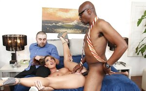 Meeting adored guy is an vital event so whore takes black lover with her