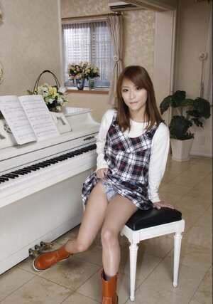 There is a piano but undersized Japanese coed will play it after showing naked body